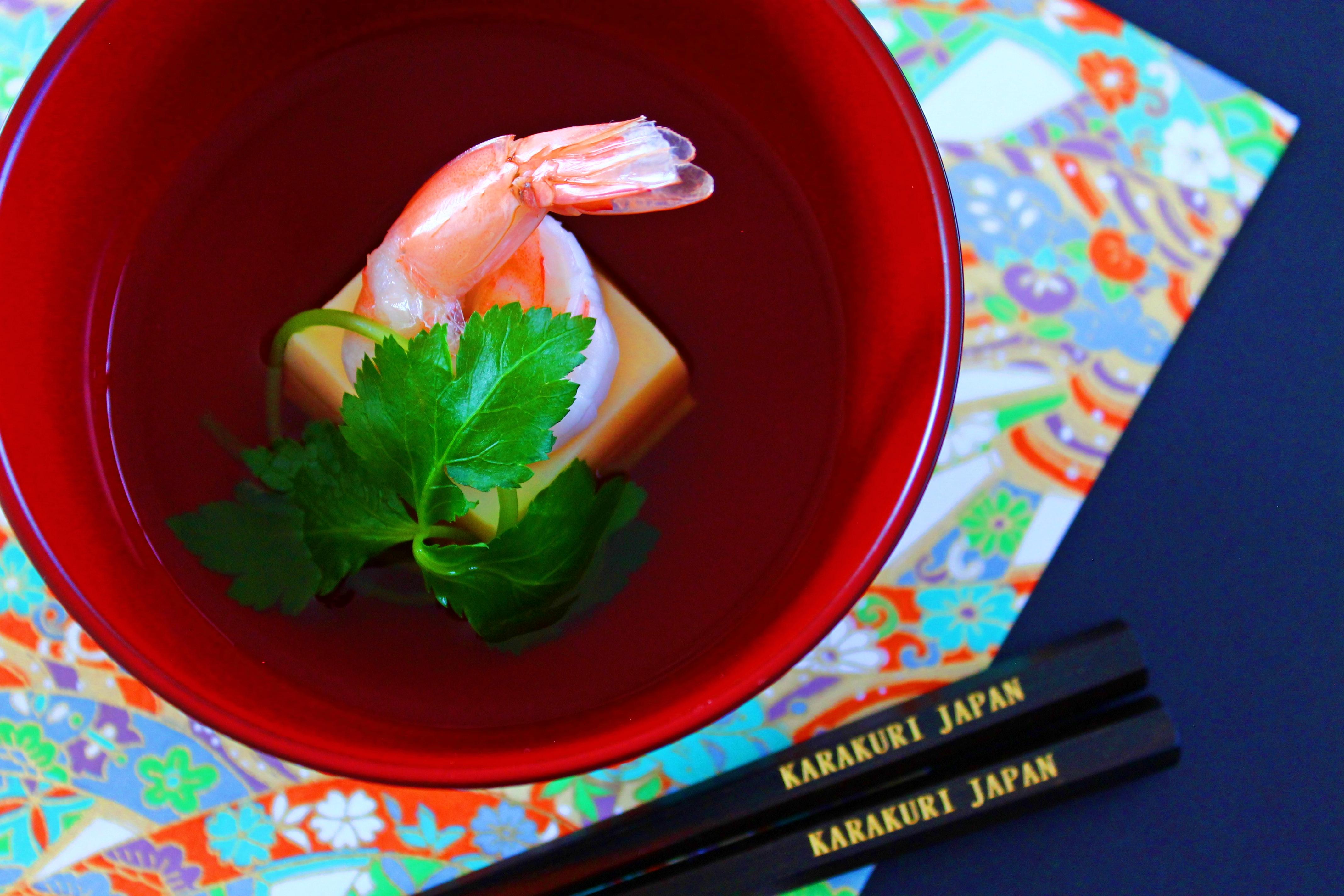 お椀赤 箸2